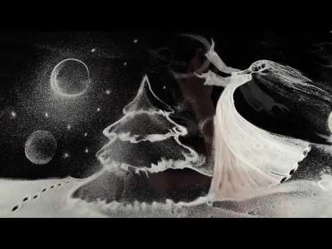 Художница Симонова новую работу нарисовала снегом