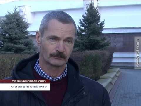 В Севастополе развалился парапет возле памятника адмиралу Сенявину
