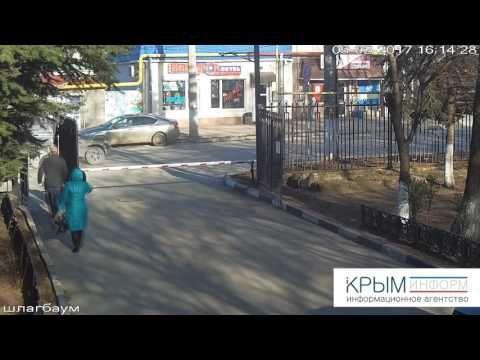 Авария с участием Lamborghini и Matiz в Симферополе попала на видео