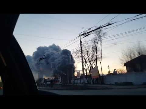 Появилось видео крупного пожара в районе симферопольского вокзала