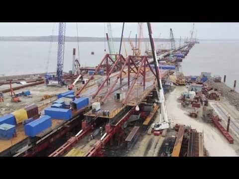 Строители Крымского моста приступили к монтажу пролетов