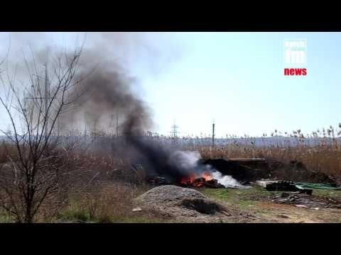 В Керчи перед гаражным кооперативом неизвестные снова устроили пожар