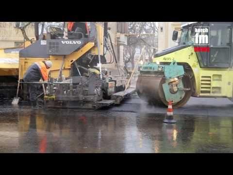 Керчь побила рекорд по масштабам укладки асфальта в дождь