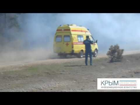 Крымские огнеборцы ликвидировали условный пожар