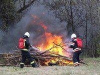 Крымские спасатели отработали действия по ликвидации условного лесного пожара