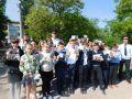 Дорожные полицейские Советского района и школьники напомнили водителям о необходимости соблюдения скоростного режима