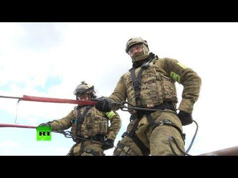 Как сегодня в Крыму спецназ штурмовал заброшенный пансионат