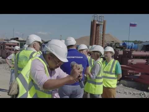Зарубежные журналисты посетили стройплощадку Крымского моста