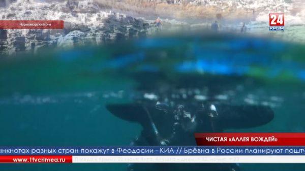 Подводную «Аллею вождей» на Тарханкуте очистили от мусора