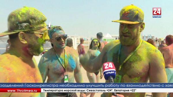 Самое яркое событие «Экстрим Крыма» - танцы с красками