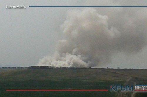 В Бахчисарайском районе загорелась свалка