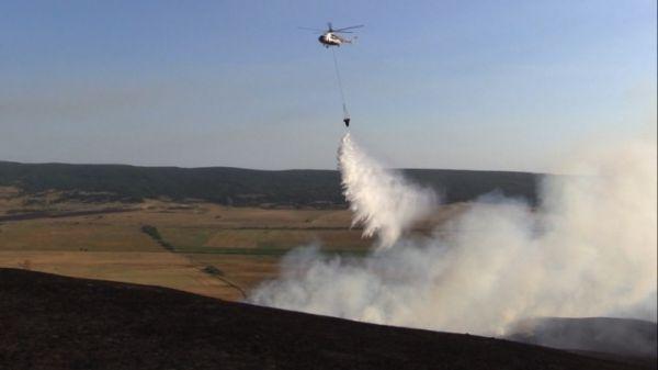 Пожарные справились с огнем в Белогорском районе
