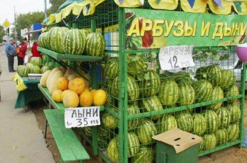 Власти рассказали, как выбрать арбуз и дыню