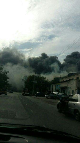 Появилось видео пожара в центре Евпатории