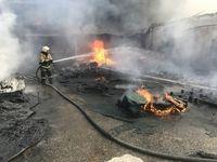 Крымские огнеборцы ликвидирован пожар в г. Евпатория