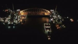 Появилось видео подъема арки Керченского моста
