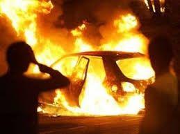В Крыму автомобили горят прямо на ходу