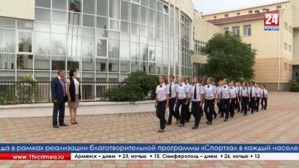 Урок патриотизма в кадетском классе Академической гимназии Симферополя провёл В. Константинов