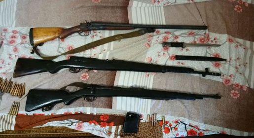 Пограничники нашли у двух жителей Северного Крыма оружие времен Великой Отечественной войны