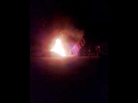 В Заречном прямо в фуре загорелись стройматериалы