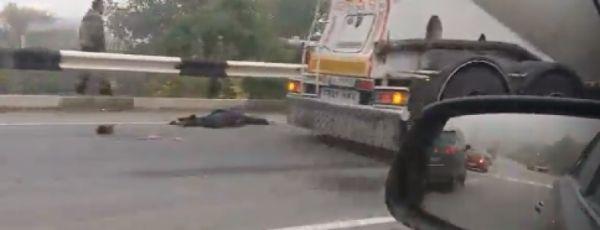 Трагическое утро: цементовозом сбил двух детей на трассе Симферополь-Севастополь, одного насмерть (ФОТО 18+)