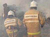 Сотрудники ГКУ РК «Пожарная охрана Республики Крым» ликвидировали пожар в пгт. Новоселовское Раздольненского района