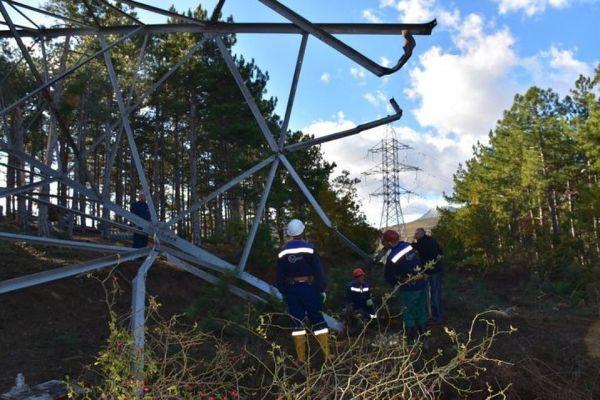 ВСимферопольском районе Крыма восстановлено энергоснабжение, нарушенное из-за аварии надороге