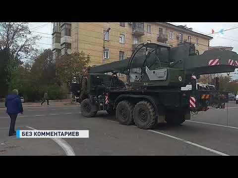 В Севастополе автокран врезался в маршрутку