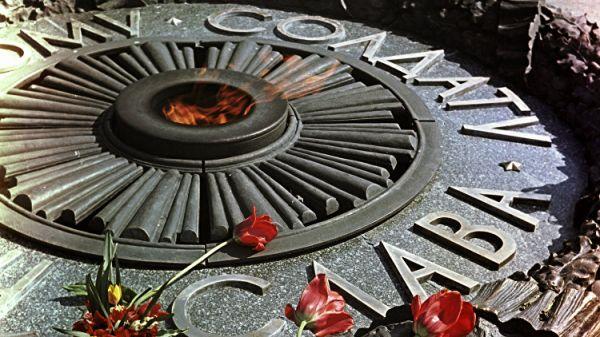 ВКиеве залили цементом «Вечный огонь»