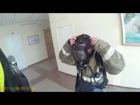 Появилось видео с места пожара в СевГУ