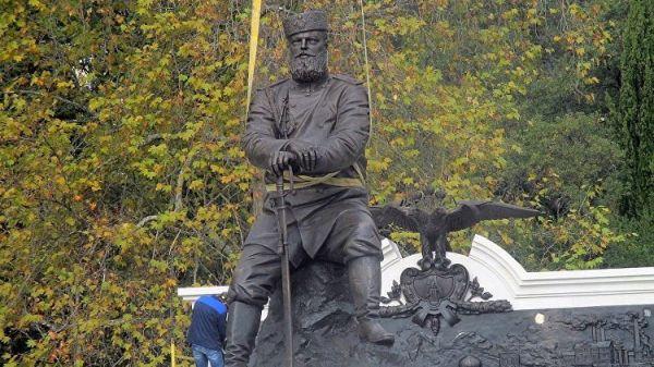 ВЯлте откроют монумент императору Александру III
