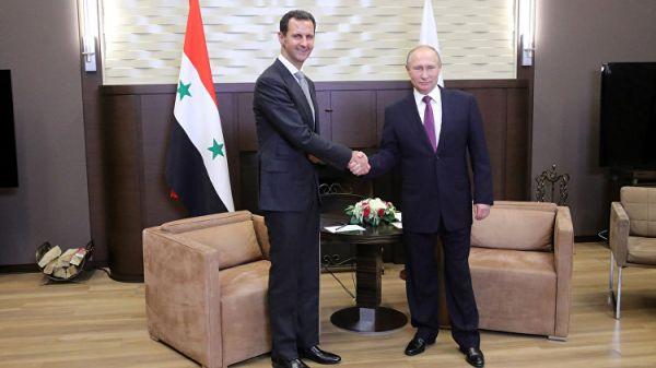 Асад на встрече с Путиным отметил, что Россия сохранила Сирию как государство