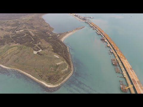 Появилось новое видео со строительства моста в Крым