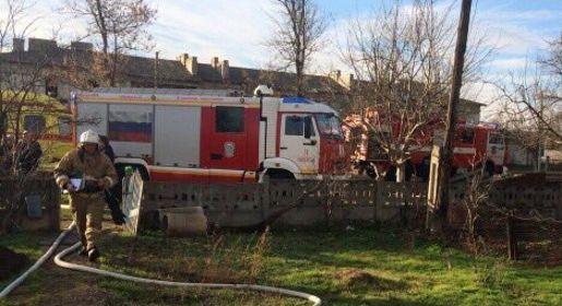 Утром вспальном районе Симферополя горел супермаркет
