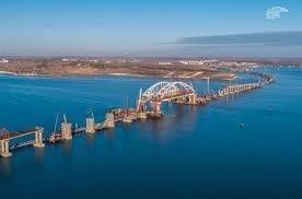 Появилось новое видео строительства моста в Крым