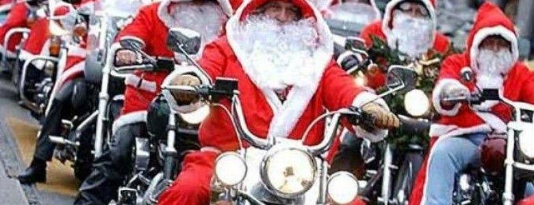 Деды Морозы на байках прокатились по центральным улицам Симферополя