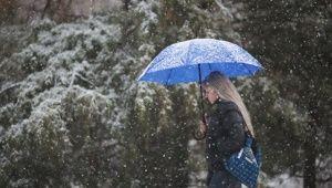 Балканский циклон несет в Крым сильный снегопад