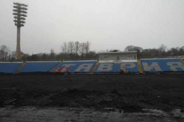 Как реконструируют бывший стадион «Локомотив» в Крыму