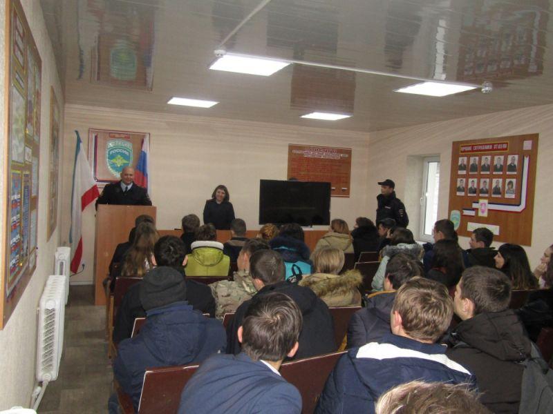 В ОМВД России по Белогорскому району высадился «Студенческий десант»