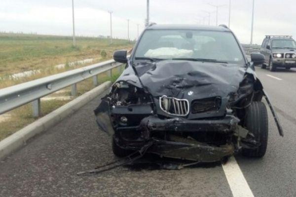 Кроссовер BMW устроил массовое ДТП на крымской трассе