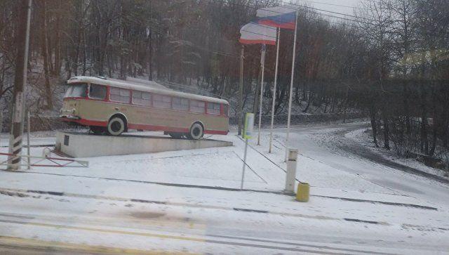 На выходных Крым накрыло снегом