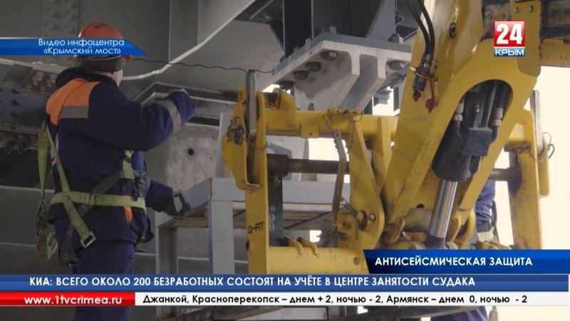Под высокотехнологичной защитой: строители моста через Керченский пролив приступили к установке специальных сейсмологических устройств