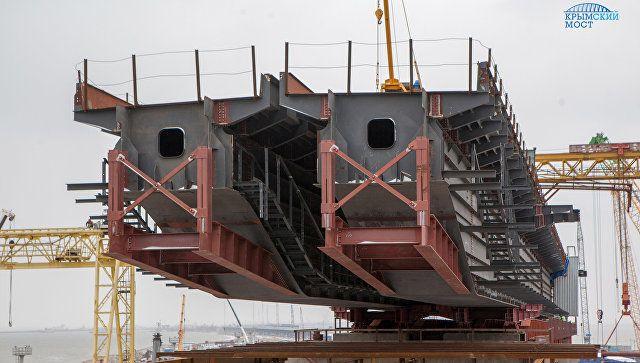Строители Крымского моста отчитались одостигнутых задва года успехах