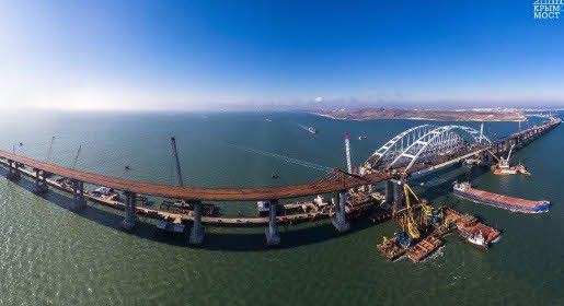 Строители Крымского моста подвели результаты двухлетней работы