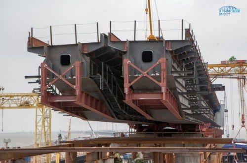 Власти опровергают информацию о несостыковке пролетов Крымского моста