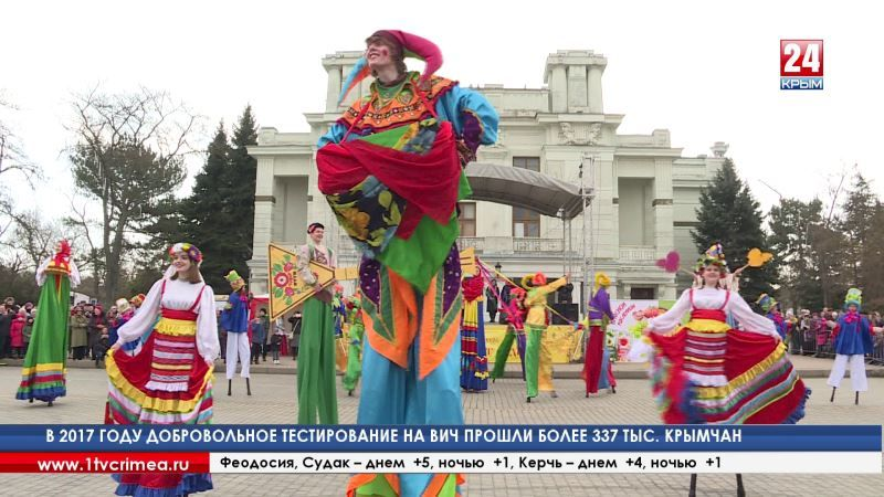 12-ти метровая «кукла-масленица» украсила главную площадь Красноперекопска