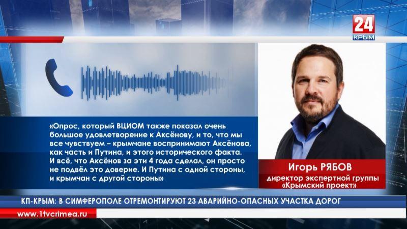 И. Рябов: «Для крымчан возвращение полуострова в Россию и Путин – одно и то же»