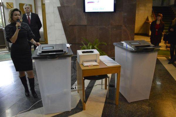 В Крыму испытали электронные комплексы распознавания бюллетеней