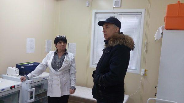 Андрей Васюта принял участие в осмотре соцобъектов в селе Пушкино