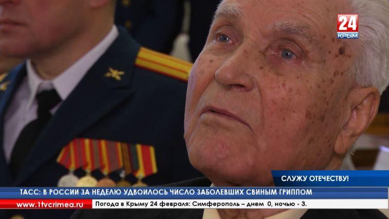 Глава Республики вручил ключи от квартиры ветерану Великой Отечественной